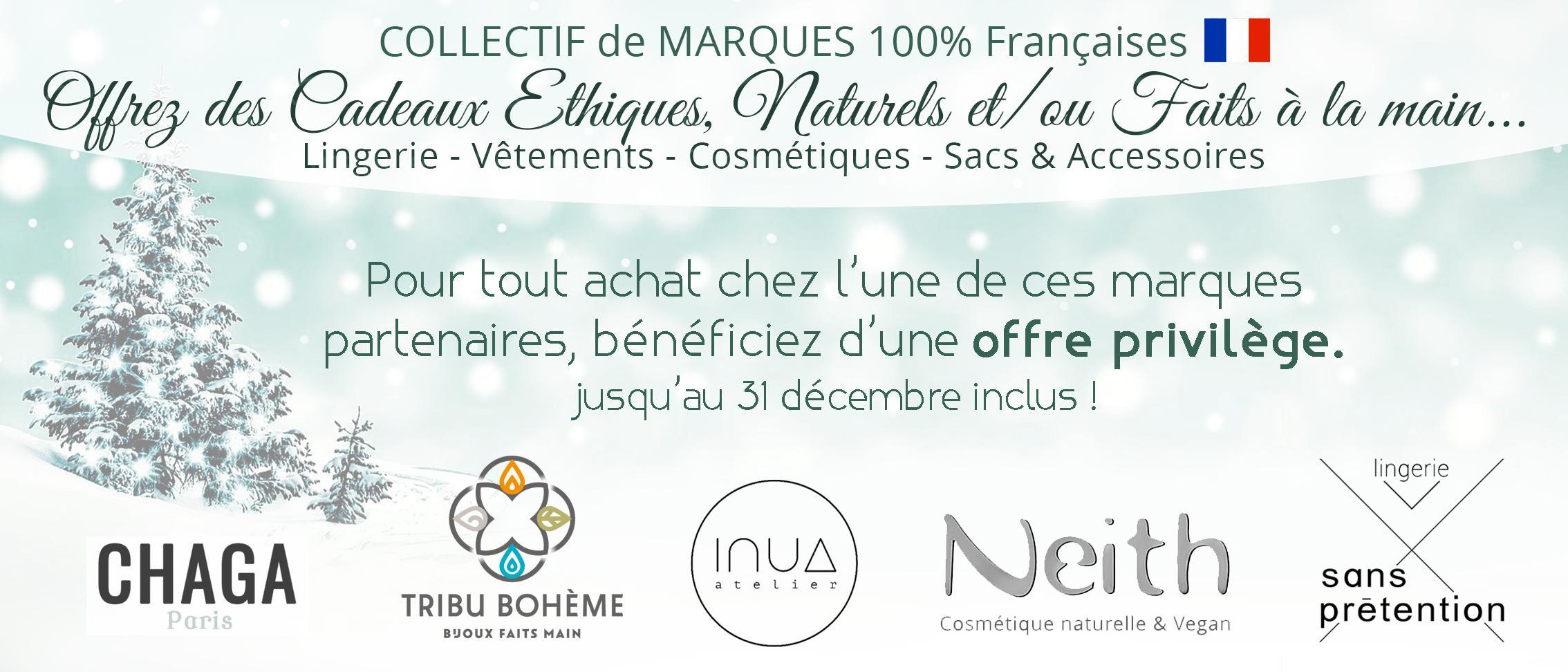 collectif de marques françaises pour offre privilège client pour les fêtes de noël